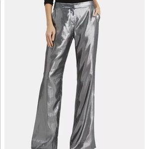 10crosby Derek lam gray silver lame trouser size 2